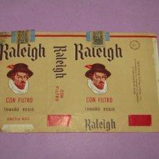 Paquetes de tabaco: ANTIGUO PAQUETE DE CIGARRILLOS TABACO * RALEIGH * CON FILTRO TAMAÑO REGIO. Lote 218035627