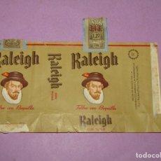 Paquetes de tabaco: ANTIGUO PAQUETE DE CIGARRILLOS TABACO * RALEIGH * FILTRO CON BOQUILLA - DE MEXICO. Lote 218035717