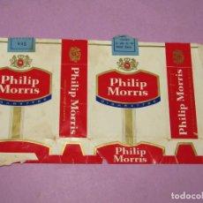 Paquetes de tabaco: ANTIGUO PAQUETE DE CIGARRILLOS TABACO * PHILIP MORRIS * HECHO EN USA. Lote 218037017