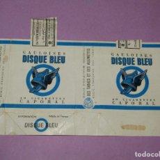 Paquetes de tabaco: ANTIGUO PAQUETE DE CIGARRILLOS TABACO * GAULOISES DISQUE BLEU* DE CAPORAL. Lote 218038561