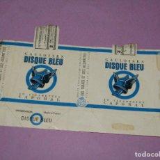 Paquetes de tabaco: ANTIGUO PAQUETE DE CIGARRILLOS TABACO * GAULOISES DISQUE BLEU * EXPORTACIÓN AL LIBANO. Lote 218039068