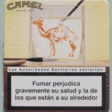 Paquetes de tabaco: CAJA METÁLICA DE CAMEL SIN ABRIR, EN SU ENVOLTORIO ORIGINAL, PERFECTO ESTADO - CLC. Lote 218230912