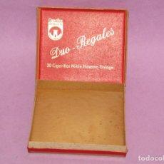 Paquetes de tabaco: ANTIGUO PAQUETE DE CIGARRILLOS TABACO * DUO - REGALES * DE CIGARRILLOS BURGER. Lote 218565596