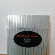 Maços de tabaco: PAQUETE DE TABACO ANTIGUO Y LLENO ( SOBRANIE OF LONDON ) DURO, CAJA CUADRADA. Lote 218809451