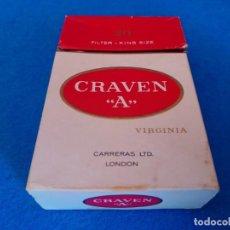 Paquetes de tabaco: CAJETILLA DE CIGARRILLOS DE TABACO CRAVEN A - PAQUETE VACIO - AÑOS 80. Lote 218835322