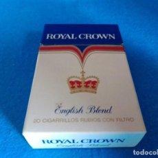 Paquetes de tabaco: CAJETILLA DE CIGARRILLOS DE TABACO ROYAL CROWN - PAQUETE VACIO - AÑOS 80. Lote 218835781