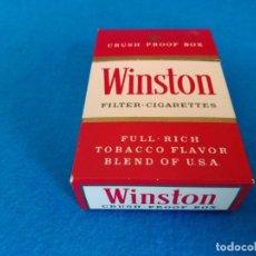 Paquetes de tabaco: CAJETILLA DE CIGARRILLOS DE TABACO WINSTON - PAQUETE VACIO - AÑOS 80. Lote 218837210