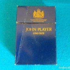 Paquetes de tabaco: CAJETILLA DE CIGARRILLOS DE TABACO JOHN PLAYER KING SIZE - PAQUETE VACIO - AÑOS 80. Lote 218839321