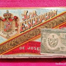 Paquetes de tabaco: PAQUETE DE PICADURA SELECTA EXTRA FINA MARCA LA ESCEPCIÓN. LA HABANA. SIN ABRIR. Lote 219132781