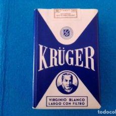 Paquetes de tabaco: CAJETILLA DE CIGARRILLOS DE TABACO KRÜGER- PAQUETE NUNCA ABIERTO - AÑOS 80. Lote 219210385