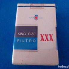 Paquetes de tabaco: CAJETILLA DE CIGARRILLOS DE TABACO XXX SUPER LUJO- PAQUETE NUNCA ABIERTO - AÑOS 80. Lote 219211600