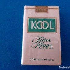 Paquetes de tabaco: CAJETILLA DE CIGARRILLOS DE TABACO KOOL PAQUETE NUNCA ABIERTO - ANTIGUO. Lote 219213833