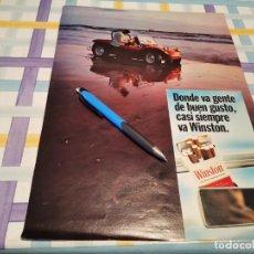 Paquets de cigarettes: PAQUETE TABACO WINSTON REVERSO GINEBRA GORDON'S ANUNCIO PUBLICIDAD REVISTA 1969. Lote 219573841