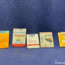 Paquetes de tabaco: 5 ENVOLTORIOS PAQUETES TABACO TRES VINTES ERNTE 23 MONTESOL REX CABINET. Lote 220935863
