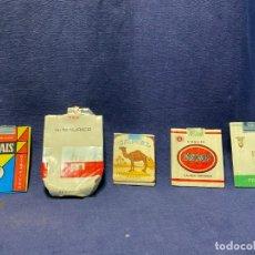 Paquetes de tabaco: 5 ENVOLTORIOS PAQUETES TABACO UNION PARTAGAS EL PAIS DU MAURIER CAMEL. Lote 220936616