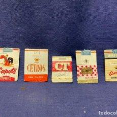 Paquetes de tabaco: 5 ENVOLTORIOS PAQUETES TABACO AVENIDA PALMITAS CAPOTE ESPECIAL CETROS CT. Lote 220943051