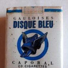 Paquetes de tabaco: PAQUETE DE TABACO FRANCES MARCA GAULOISES DISQUE BLEU. Lote 221372912