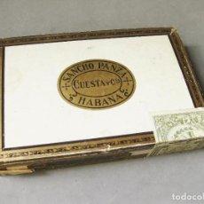 Paquetes de tabaco: CAJA DE PUROS DE SANCHO PANZA - HABANA - 25 NON PLUS - CUESTA Y CIA - CUBA. Lote 221512347
