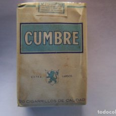 Paquetes de tabaco: CUMBRE . PAQUETE DE TABACO MUY ANTIGUO EN PERFECTO ESTADO DE CONSERVACION. Lote 221547335