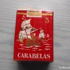 Paquetes de tabaco: ANTIGUO PAQUETE TABACO 3 CARABELAS. Lote 221583022