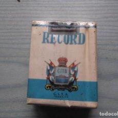 Paquetes de tabaco: ANTIGUO PAQUETE TABACO RECORD. Lote 221583918