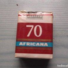 Paquetes de tabaco: ANTIGUO PAQUETE TABACO AFRICANA 70. Lote 221584113