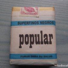 Paquetes de tabaco: ANTIGUO PAQUETE TABACO POPULAR. Lote 221584775