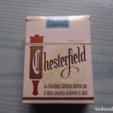 Paquetes de tabaco: ANTIGUO PAQUETE TABACO CHESTERFIELD. Lote 221585037