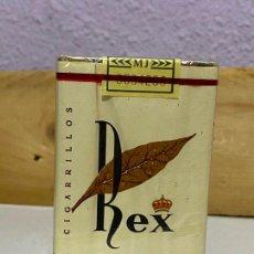 Paquetes de tabaco: ANTIGUO PAQUETE TABACO SIN ABRIR: REX EXTRA FILTRO ---- CIGARRILLOS (ISLAS CANARIAS). Lote 222166021