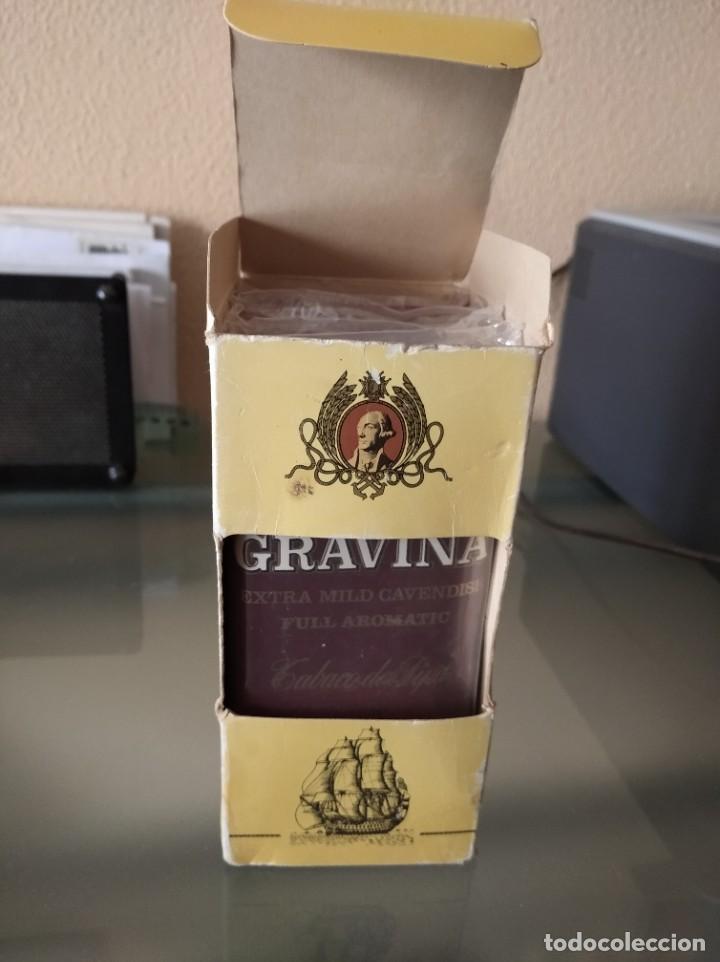ANTIGUA CAJA CON 4 PAQUETES DE TABACO DE PIPA GRAVINA (Coleccionismo - Objetos para Fumar - Paquetes de tabaco)