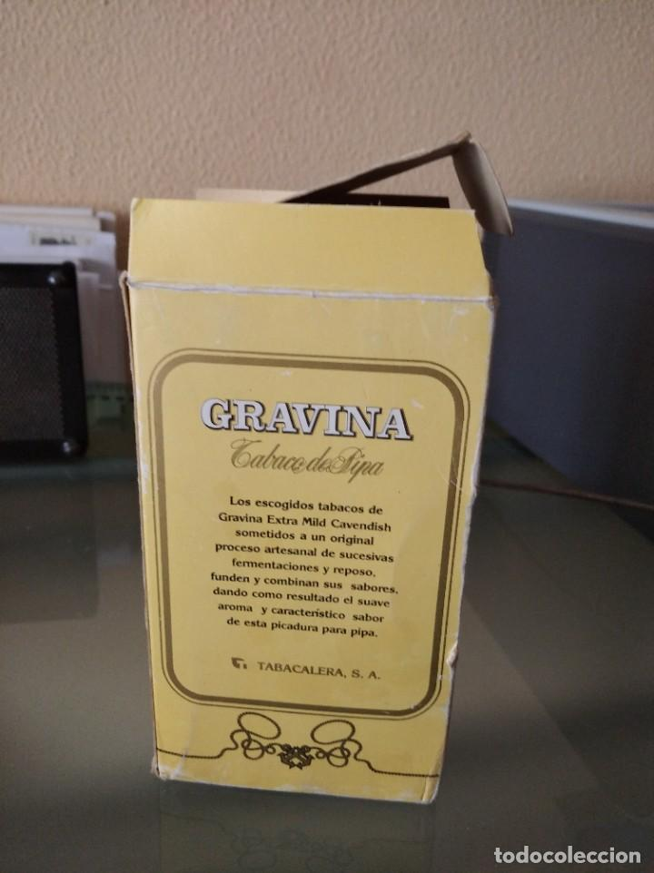 Paquetes de tabaco: Antigua caja con 4 paquetes de tabaco de pipa Gravina - Foto 2 - 222218280