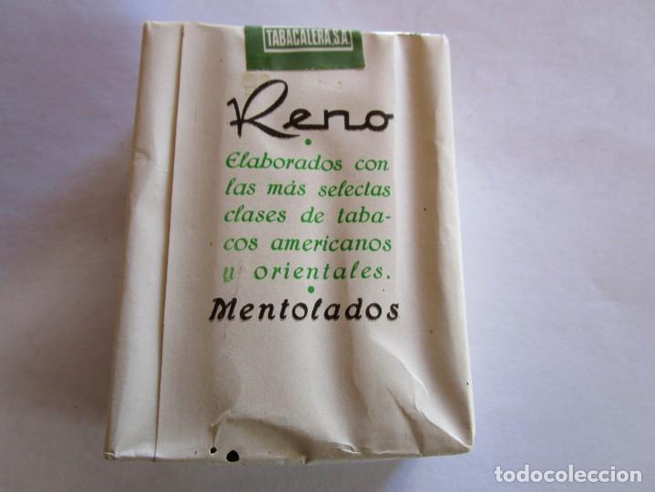 Paquetes de tabaco: RENO . PAQUETE DE TABACO MUY ANTIGUO EN PERFECTO ESTADO DE CONSERVACION - Foto 2 - 222438028