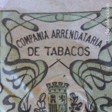 Paquetes de tabaco: ENVOLTORIO COMPAÑIA ARRENDATAARIA DE TABACOS 25 GRS, PICADO EPOCA REPUBLICA. Lote 222708681