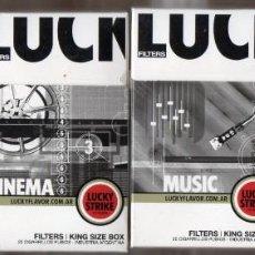 Paquetes de tabaco: 4 CAJETILLAS LUCKY STRIKE 20 LLENAS DE ARGENTINA EDICION LIMITADA. Lote 222800825