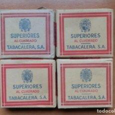 Paquetes de tabaco: 4 PAQUETES DE TABACO DE 20 CIGARRILLOS SUPERIORES. TABACALERA S.A. 2 DE 0,75 PTS Y 2 DE 1,05 PTS. Lote 223608337