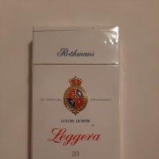 Paquetes de tabaco: CAJETILLA DE TABACO ITALIANO MARCA ROTHMANS LEGGERA. Lote 223740577