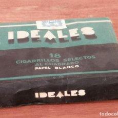 Paquetes de tabaco: ANTIGUA CAJETILLA DE CIGARRILLOS IDEALES. SIN ABRIR. W. Lote 226441362
