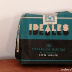 Paquetes de tabaco: ANTIGUA CAJETILLA DE CIGARRILLOS IDEALES. SIN ABRIR. W. Lote 226441480