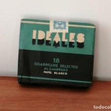 Paquetes de tabaco: ANTIGUA CAJETILLA DE CIGARRILLOS IDEALES. SIN ABRIR. W. Lote 226442030