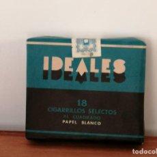 Paquetes de tabaco: ANTIGUA CAJETILLA DE CIGARRILLOS IDEALES. SIN ABRIR. W. Lote 226442159