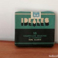 Paquetes de tabaco: ANTIGUA CAJETILLA DE CIGARRILLOS IDEALES. SIN ABRIR. W. Lote 226442440