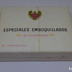 Paquetes de tabaco: ANTIGUO PAQUETE DE TABACO . ESPECIALES EMBOQUILLADOS . ABIERTO PERO LLENO .. Lote 226456290