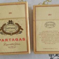 Paquetes de tabaco: PAQUETE CAJA TABACO PARTAGAS DE LUJO 20 CIGARRILLOS FINOS PRECINTADA. Lote 227841525