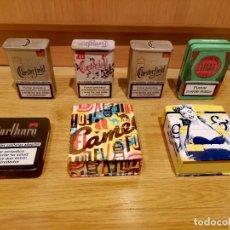 Paquetes de tabaco: EDICIÓN LIMITADA DE 7 CAJAS DE TABACO METÁLICAS. Lote 228131430
