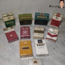 Paquetes de tabaco: LOTE 11 PAQUETES - CAJETILLAS DE TABACO ANTIGUOS (RETRO-VINTAGE). Lote 230855465