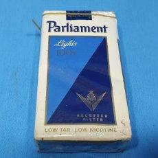 Paquetes de tabaco: PAQUETE DE TABACO - PARLIAMENT LIGHTS - CAJETILLA DE 20 CIGARRILLOS - PRECINTADA SIN ABRIR. Lote 233508365