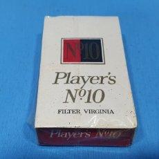 Paquetes de tabaco: PAQUETE DE TABACO - PLAYER'S N° 10 - CAJETILLA DE 10 CIGARRILLOS - PRECINTADA SIN ABRIR. Lote 233510485