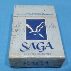 Paquetes de tabaco: PAQUETE DE TABACO - SAGA - CAJETILLA DE 20 CIGARRILLOS - PRECINTADA SIN ABRIR. Lote 233510890