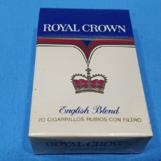 Paquetes de tabaco: PAQUETE DE TABACO - ROYAL CROWN ENGLISH BLEND - CAJETILLA DE 20 CIGARRILLOS - PRECINTADA SIN ABRIR. Lote 234300045