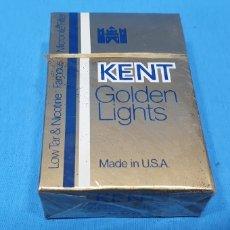 Paquetes de tabaco: PAQUETE DE TABACO - KENT GOLDEN LIGHTS - CAJETILLA DE 20 CIGARRILLOS - PRECINTADA SIN ABRIR. Lote 234300490